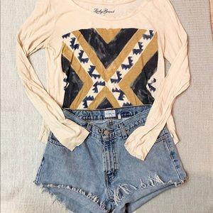 Lucky Brand Boho Long Sleeve Shirt